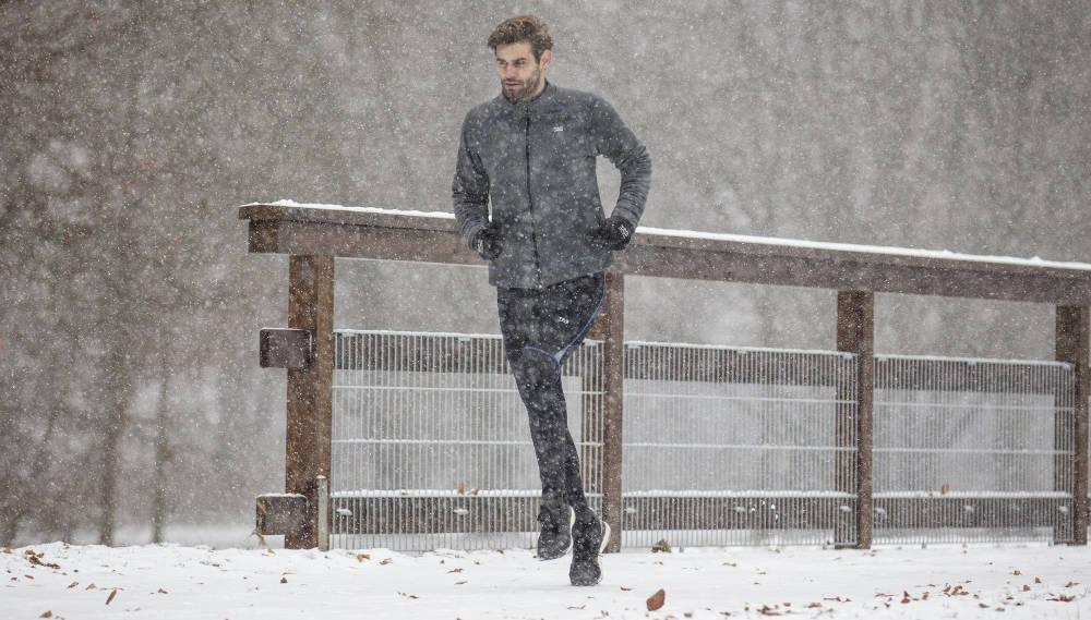 Laufjacke im Winter