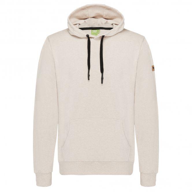 TAO Sportswear - Coolio - Kuscheliger Hoodie mit Kapuze aus Bio-Baumwolle - beige meliert