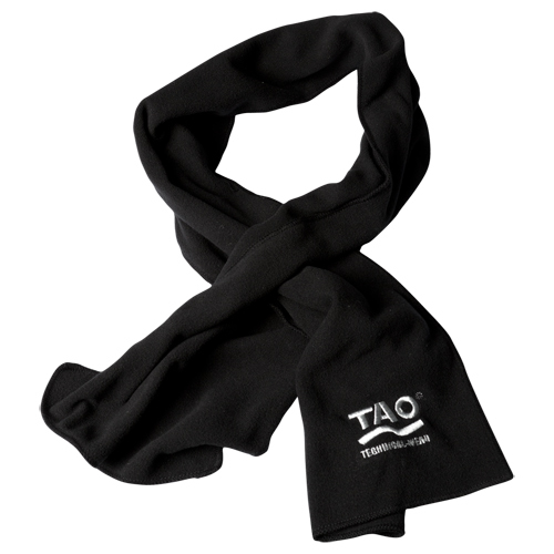 TAO Sportswear - FLEECE SCARF - Winterschal aus Fleece - black