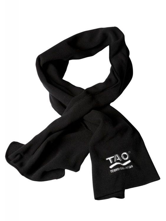 TAO Sportswear - FLEECE SCARF - Winterschal aus Fleece mit eingesticktem TAO-Logo - black