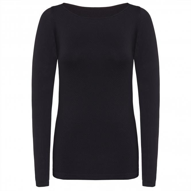 TAO Sportswear - LANGARM SHIRT - Atmungsaktives Langarm Damen Funktionsunterhemd - black