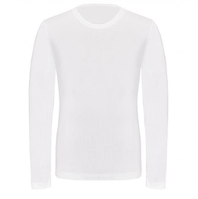TAO Sportswear - LANGARM SHIRT - Atmungsaktives Langarm Funktionsshirt - white