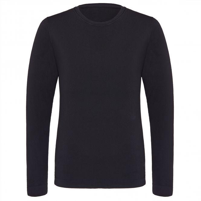 TAO Sportswear - LANGARM SHIRT - Atmungsaktives Langarm Funktionsshirt - black