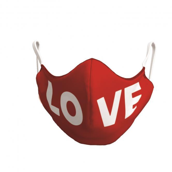 TAO Sportswear - MASKE (Bio-Baumwolle) - Mit LOVE-Aufdruck - red/white LOVE
