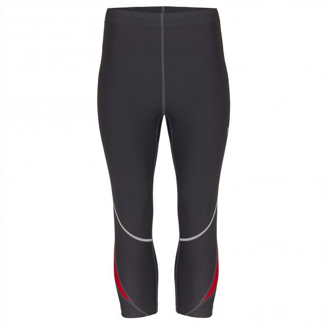 TAO Sportswear - NARIUS - Atmungsaktive 3/4-Lauftight mit feststellbarem Reißverschluss - titanium