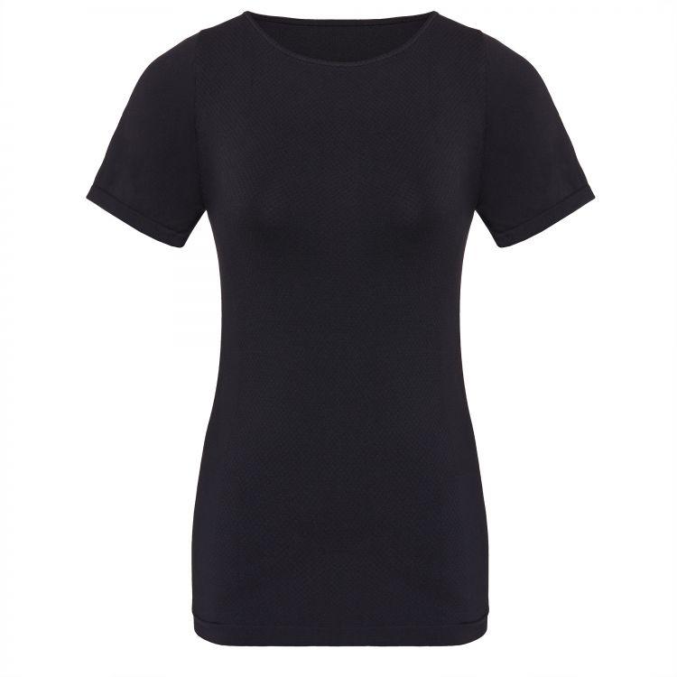 TAO Sportswear - SHIRT - Atmungsaktives Kurzarm Damen Funktionsunterhemd - black