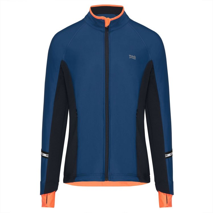 TAO Sportswear - VERDIANA - Wasserdichte und wärmende Laufjacke - dark saphir/titanium