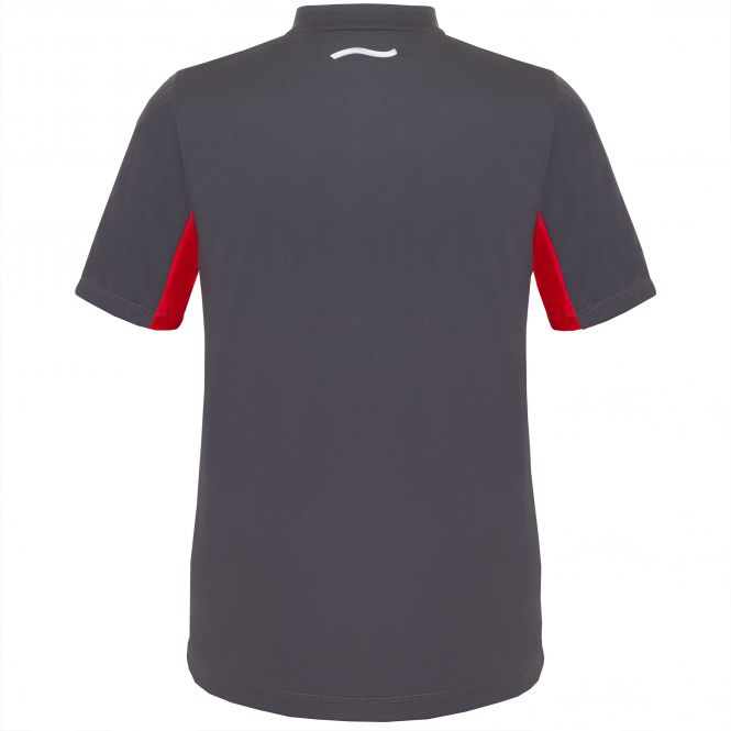 TAO Sportswear - ASKER - Atmungsaktives Laufshirt mit Zip und Stehkragen - titanium
