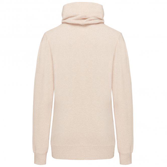 TAO Sportswear - COOLIA - Kuscheliger Hoodie mit Stehkragen aus Bio-Baumwolle - beige meliert