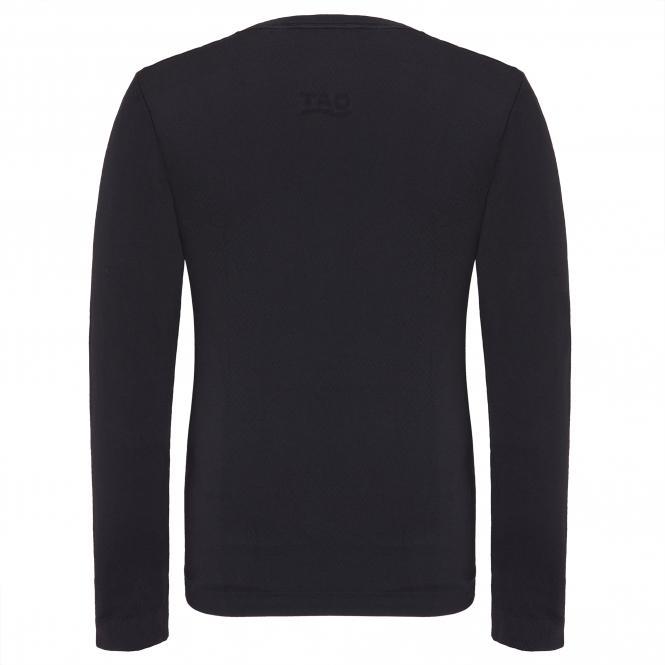 TAO Sportswear - LANGARM SHIRT - Atmungsaktives Langarm Funktionsunterhemd - black