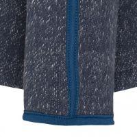 TAO Sportswear - ELA - Taillierte Freizeitjacke im Melangelook aus Bio-Baumwolle - navy