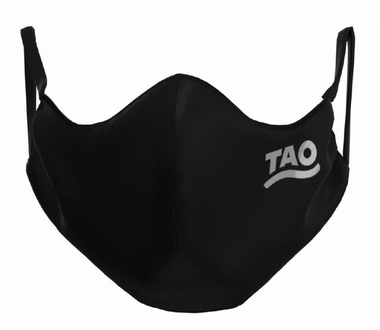 TAO Sportswear - MASKE - 10er Pack (FunktionsTex) - FunktionsTex mit Logo - black