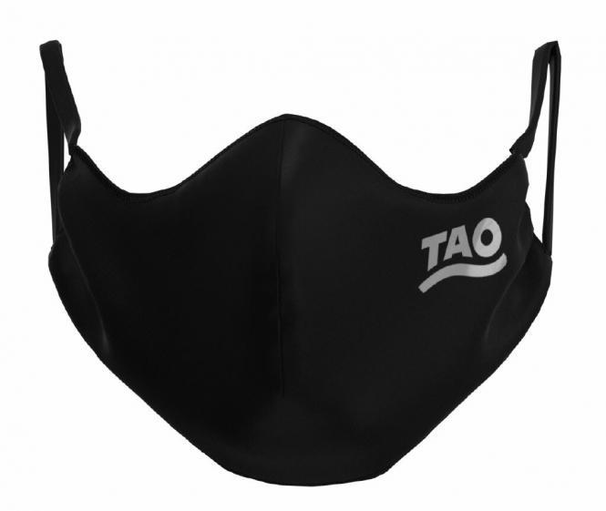 TAO Sportswear - MASKE - 12er Pack (FunktionsTex) - FunktionsTex mit Logo - black