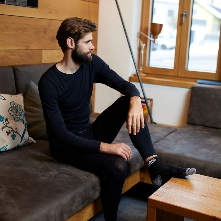TAO Sportswear - LANGE TIGHT - Atmungsaktive seamless Funktionsunterhose - black
