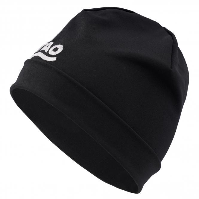 TAO Sportswear - Running Cap - Atmungsaktive Laufmütze für kalte Wintertage - black
